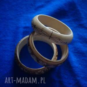 drewno bransoletki ważkowa bransoleta - ręcznie