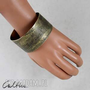handmade bransoletka wężowa - mosiężna