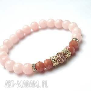 pomarańczowe bransoletki kryształki wianek / sweet pink vol. 2