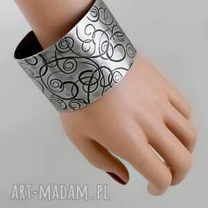 niekonwencjonalne bransoletki bransiletka *zawijasy - metalowa bransoleta