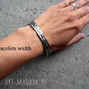 srebrne-bransoletki bransoletki zestaw 2 bransolet z zawieszkami