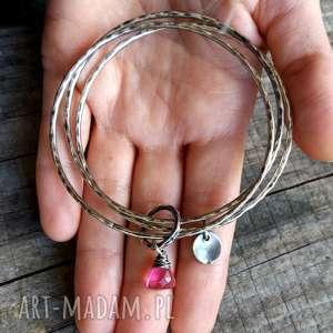 Cocopunk pomysły na upominki świąteczne komplet bransoletek zestaw 3 - srebro