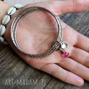 pomysły na upominki świąteczne bransoletki charmsy zestaw 3 bransoletek - srebro