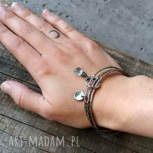 turkusowe bransoletki błękitna zestaw 3 bransoletek - srebro