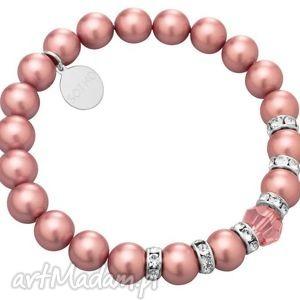 marmur bransoletki różowe zestaw modowych bransoletek ping &