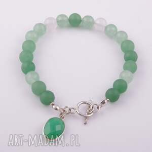 białe bransoletki agat zielona bransoletka z agatu