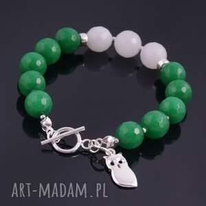 biżuteria bransoletki zielona sowa, bransoletka