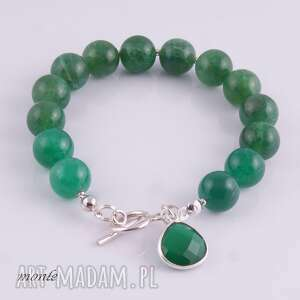 eleganckie bransoletki zielona zielono mi, bransoletka z agatów