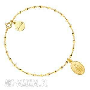 unikalne bransoletka złota z medalikiem