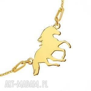 unikalne bransoletka złota z koniem