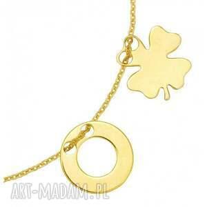 atrakcyjne bransoletka złota z koniczynk&#261
