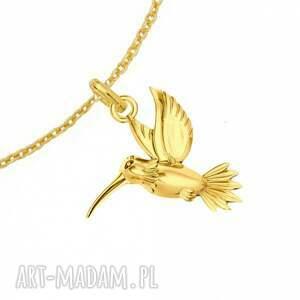 niepowtarzalne modny złota bransoletka z kolibrem