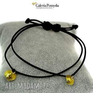 złote bransoletki złocone serduszka