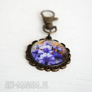 niesztampowe breloki brelok breloczek do kluczy - fioletowe