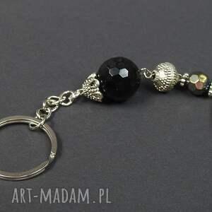 breloki: 0124/ brelok do kluczy kamień onyks kula - przywieszka kamien