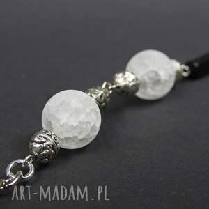 białe breloki przywieszka 0126/ brelok do kluczy kamień onyks