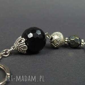 breloki: 0124/ brelok do kluczy kamień onyks kula - przywieszka