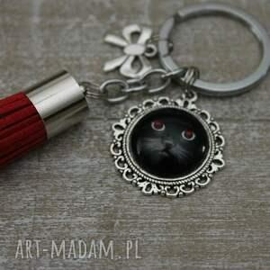 czarne breloki kotek brelok