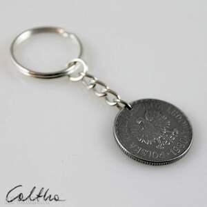 wyraziste breloki brelok złotówka - breloczek do kluczy