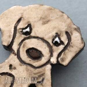 niepowtarzalne broszki minimalizm biszkopcik-broszka ceramiczna