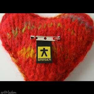 ręcznie wykonane broszki poduszeczka brocha serce w eleganckim