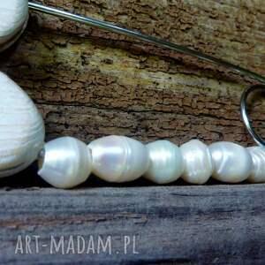 niekonwencjonalne broszki biała perła ręcznie robiona agrafka klasyczna wykonany