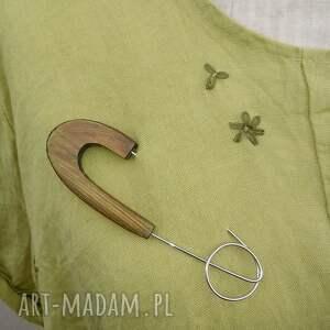 broszki biżuteria broszka z drewna
