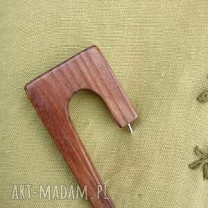 broszki drewno broszka biżuteria z drewna