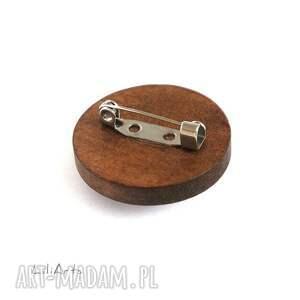 hand made broszki broszka drewniana liliarts