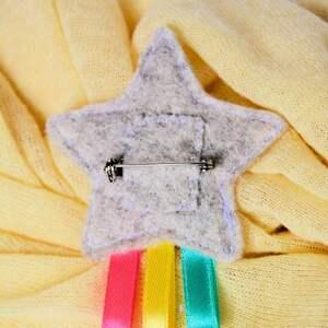 dziewczynka broszki broszka dziecięca - tęczowa