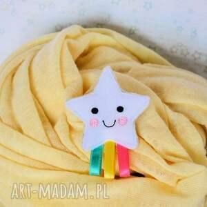 broszki gwiazdka broszka dziecięca - tęczowa