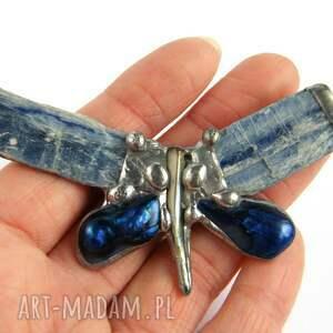 eleganckie broszki cyjanit broszka: granatowo-błękitny motyl
