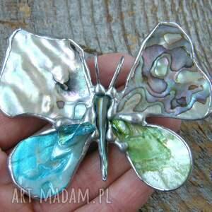 broszko-wisior broszki zielone broszka i wisior (2 w 1): motyl