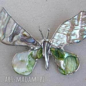 kolorowe broszki broszka-z-wisiorkiem broszka i wisior (2 w 1): motyl