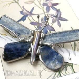 kamienie naturalne broszka i wisiorek 2 w 1: motyl