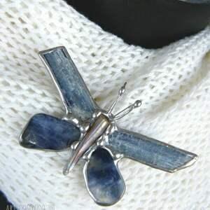 broszki broszka z-kamieni i wisiorek 2 w 1: motyl