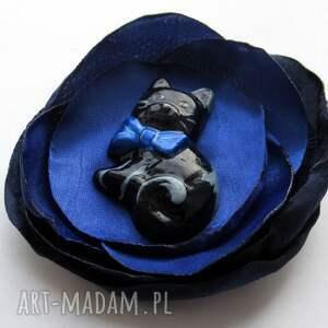 niebieskie broszki kot broszka - maurycy 3d