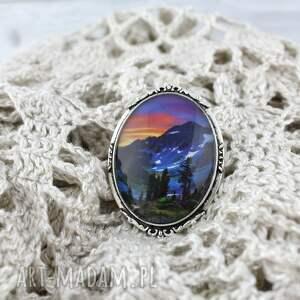 nietypowe broszki do-swetra broszka - krajobraz