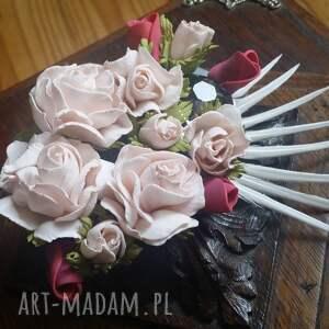 niesztampowe broszki kwiaty broszka - kwiatowe szaleństwo