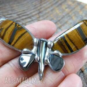 unikalne broszki broszka-motyl broszka: mały motyl tygrysi