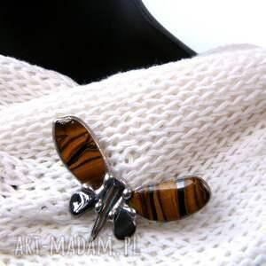 broszki: - broszka motyl tygrysie oko