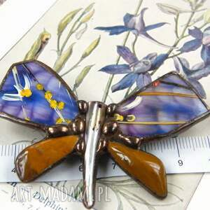 efektowne broszki broszka-motyl broszka: motyl malowany