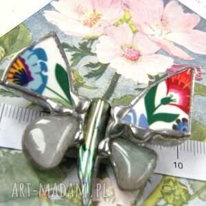 handmade broszki motyl broszkafolk z awenturynem to unikalna biżuteria