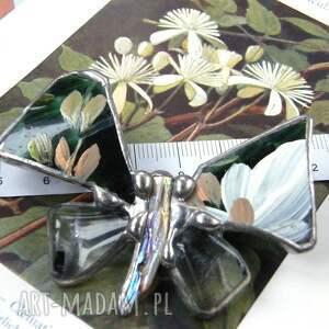 broszki kryształ broszka: motyl malowany