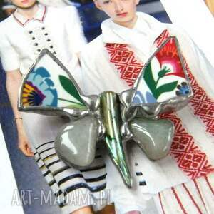 broszki motyl broszka: folk z awenturynem