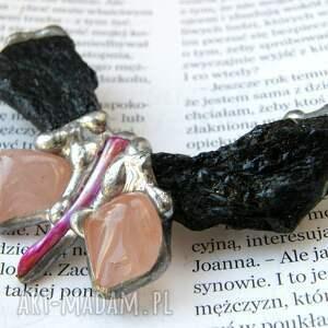 broszki turmalin broszka: motyl z turmalinem