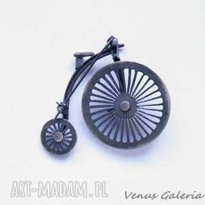 srebro broszki broszka srebrna - bicykl - rower