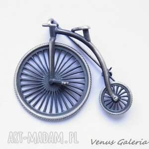 oryginalne broszki biżuteria broszka srebrna - bicykl - rower
