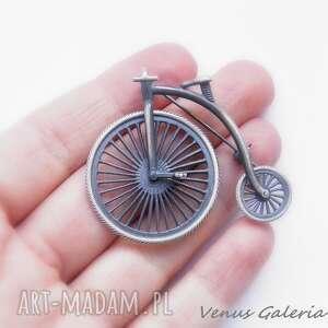 broszki srebro broszka srebrna - bicykl rower