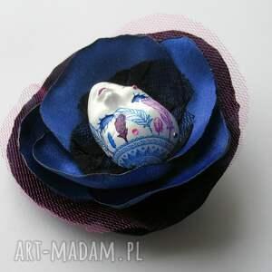 maska broszki niebieskie broszka z kolekcji masquerade